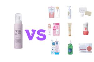 ホイップケアと他の人気石鹸を比較